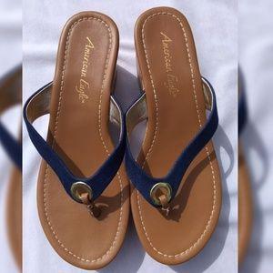 American Eagle Women's Cork Wedge Sandals Size: 8
